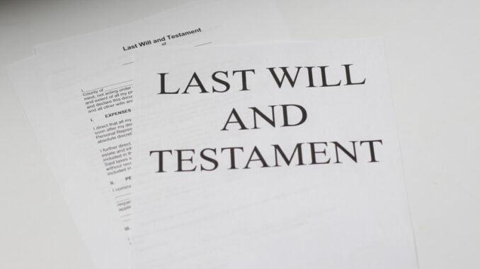 Att skriva testamente själv